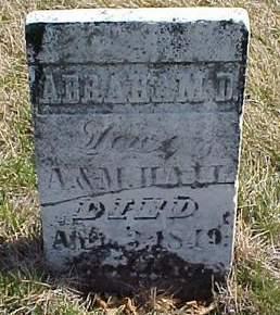 HALL, ABRAHAM D. - Louisa County, Iowa | ABRAHAM D. HALL