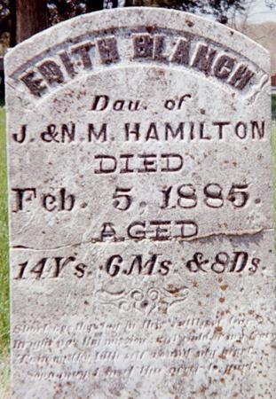 HAMILTON, EDITH BLANCH - Louisa County, Iowa   EDITH BLANCH HAMILTON