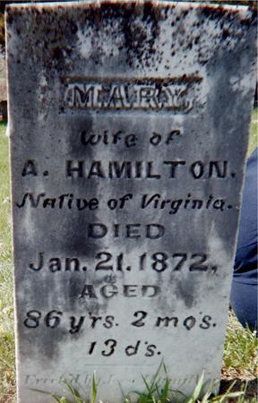 HAMILTON, MARY - Louisa County, Iowa | MARY HAMILTON