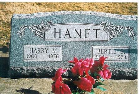 HANFT, HARRY  M. & BERTIE S. - Louisa County, Iowa | HARRY  M. & BERTIE S. HANFT