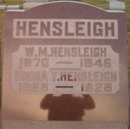 HENSLEIGH, EMMA T. - Louisa County, Iowa | EMMA T. HENSLEIGH