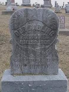 HINTON, SON - Louisa County, Iowa   SON HINTON