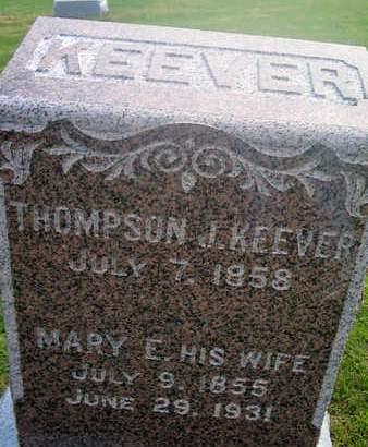 KEEVER, MARY E. - Louisa County, Iowa | MARY E. KEEVER