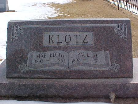 KLOTZ, PAUL M. - Louisa County, Iowa | PAUL M. KLOTZ