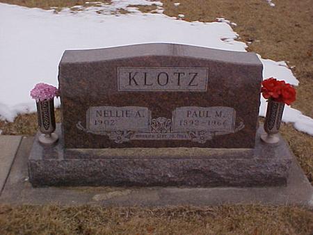 KLOTZ, NELLIE A. - Louisa County, Iowa | NELLIE A. KLOTZ