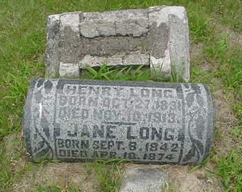 LONG, JANE - Louisa County, Iowa   JANE LONG