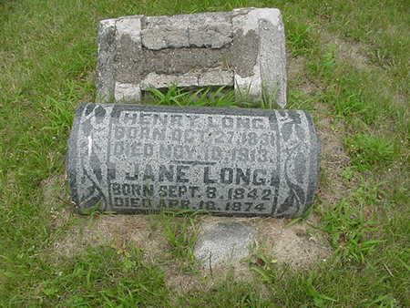 LONG, JANE - Louisa County, Iowa | JANE LONG
