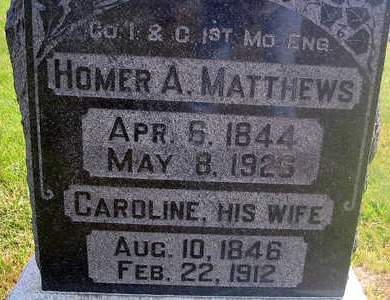 MATTHEWS, CAROLINE - Louisa County, Iowa | CAROLINE MATTHEWS