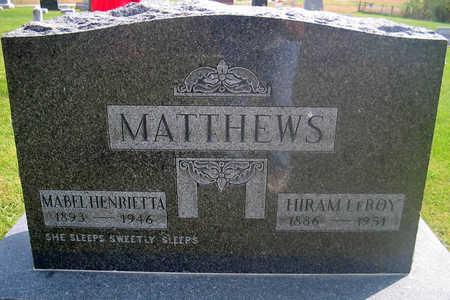 MATTHEWS, HIRAM LEROY - Louisa County, Iowa   HIRAM LEROY MATTHEWS