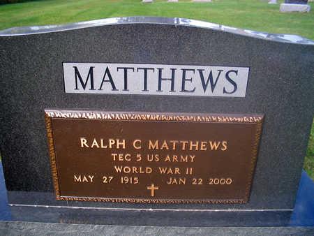 MATTHEWS, RALPH C. - Louisa County, Iowa | RALPH C. MATTHEWS