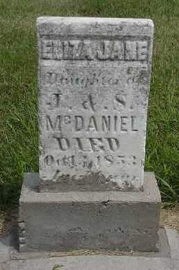 MCDANIEL, ELIZA JANE - Louisa County, Iowa | ELIZA JANE MCDANIEL