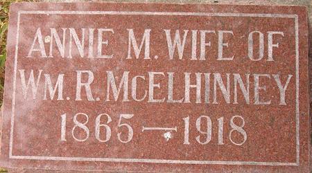 MCELHINNEY, ANNIE M. - Louisa County, Iowa | ANNIE M. MCELHINNEY