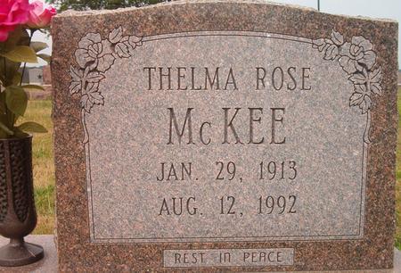 MCKEE, THELMA ROSE - Louisa County, Iowa | THELMA ROSE MCKEE