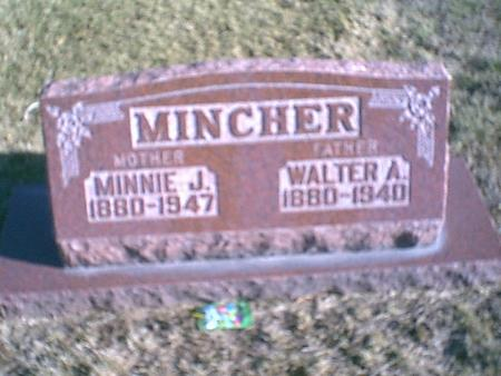 MINCHER, MINNIE JANE - Louisa County, Iowa | MINNIE JANE MINCHER