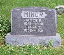 MINOR, SARAH E. - Louisa County, Iowa | SARAH E. MINOR