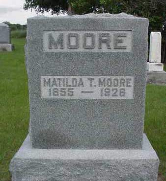 MOORE, MATILDA T. - Louisa County, Iowa | MATILDA T. MOORE