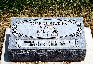HAWKINS MYERS, JOSEPHINE - Louisa County, Iowa | JOSEPHINE HAWKINS MYERS