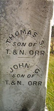 ORR, THOMAS S. - Louisa County, Iowa | THOMAS S. ORR