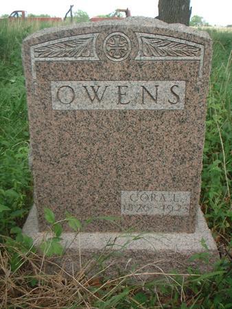 OWENS, CORA - Louisa County, Iowa   CORA OWENS