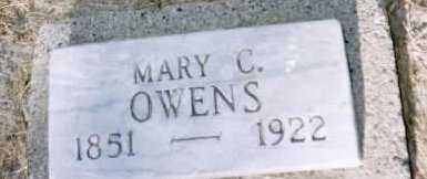 OWENS, MARY  C. - Louisa County, Iowa   MARY  C. OWENS