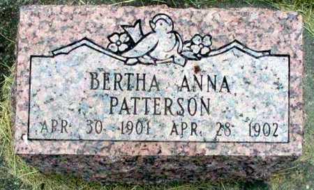 PATTERSON, BERTHA ANNA - Louisa County, Iowa   BERTHA ANNA PATTERSON