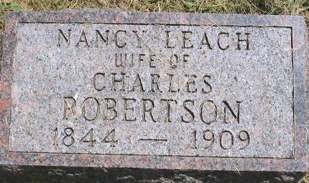 LEACH ROBERTSON, NANCY - Louisa County, Iowa | NANCY LEACH ROBERTSON