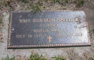 SNYDER, VAN BURTON - Louisa County, Iowa   VAN BURTON SNYDER
