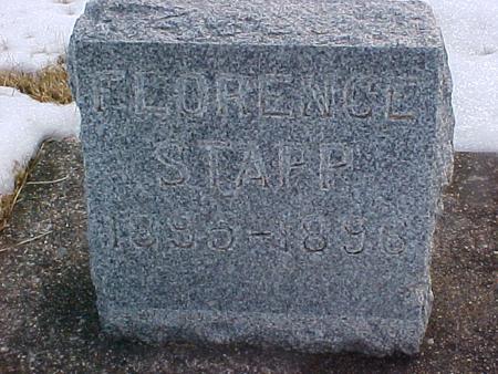 STAPP, FLORENCE - Louisa County, Iowa   FLORENCE STAPP