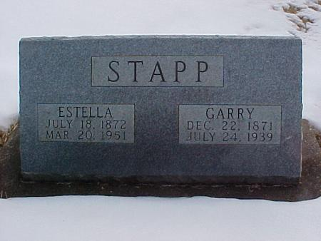 STAPP, GARY AND ESTELLA - Louisa County, Iowa | GARY AND ESTELLA STAPP