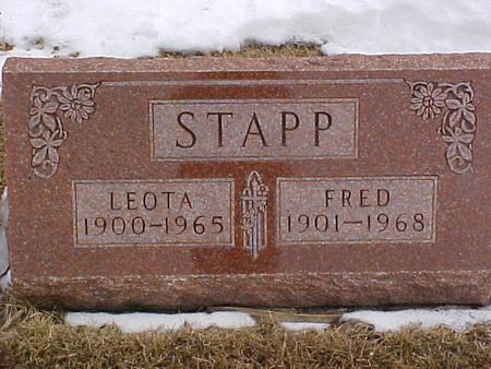 STAPP, LEOTA - Louisa County, Iowa | LEOTA STAPP
