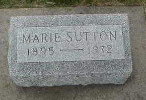 SUTTON, MARIE - Louisa County, Iowa   MARIE SUTTON