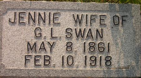 SWAN, JENNIE - Louisa County, Iowa   JENNIE SWAN