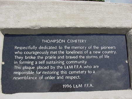 THOMPSON, CEMETERY - Louisa County, Iowa | CEMETERY THOMPSON