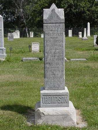 THOMPSON, JOSEPHINE - Louisa County, Iowa | JOSEPHINE THOMPSON