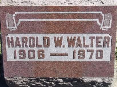 WALTER, HAROLD W. - Louisa County, Iowa   HAROLD W. WALTER