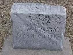 WASSON, MARSHALL - Louisa County, Iowa   MARSHALL WASSON