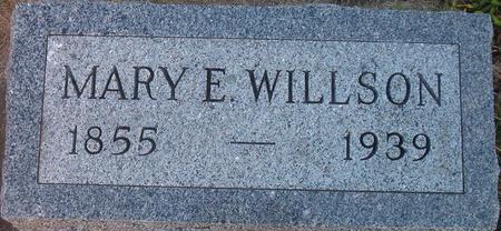 WILLSON, MARY E. - Louisa County, Iowa   MARY E. WILLSON