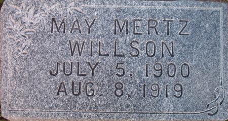 WILLSON, MAY MERTZ - Louisa County, Iowa   MAY MERTZ WILLSON