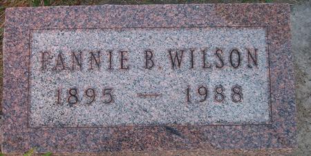 WILSON, FANNIE B. - Louisa County, Iowa | FANNIE B. WILSON