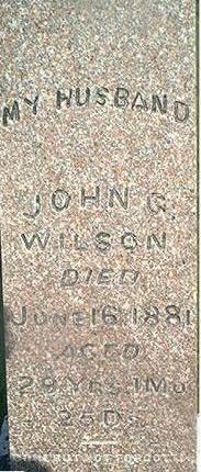 WILSON, JOHN G. - Louisa County, Iowa | JOHN G. WILSON