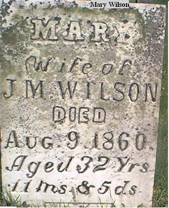 WILSON, MARY - Louisa County, Iowa | MARY WILSON