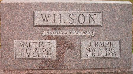 WILSON, MARTHA E. - Louisa County, Iowa | MARTHA E. WILSON