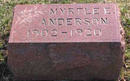 ANDERSON, MYRTLE E. - Lucas County, Iowa | MYRTLE E. ANDERSON