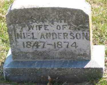 THOMPSON ANDERSON, SARAH - Lucas County, Iowa | SARAH THOMPSON ANDERSON