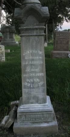 ARNOLD, DAVID D. - Lucas County, Iowa | DAVID D. ARNOLD