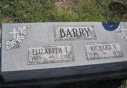 BARRY, RICHARD V - Lucas County, Iowa   RICHARD V BARRY