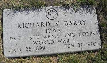 BARRY, RICHARD V - Lucas County, Iowa | RICHARD V BARRY
