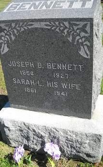 BENNETT, SARAH L - Lucas County, Iowa   SARAH L BENNETT
