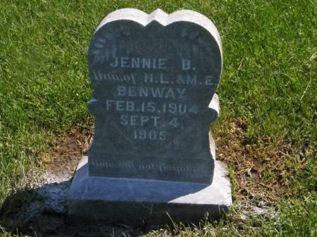 BENWAY, JENNIE B. - Lucas County, Iowa | JENNIE B. BENWAY