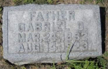 BLASKOVICH, GABRIEL D - Lucas County, Iowa   GABRIEL D BLASKOVICH